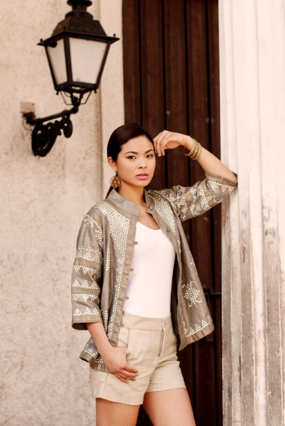 Mindanao metallics. The Subi jacket can put the shine on any outfit.